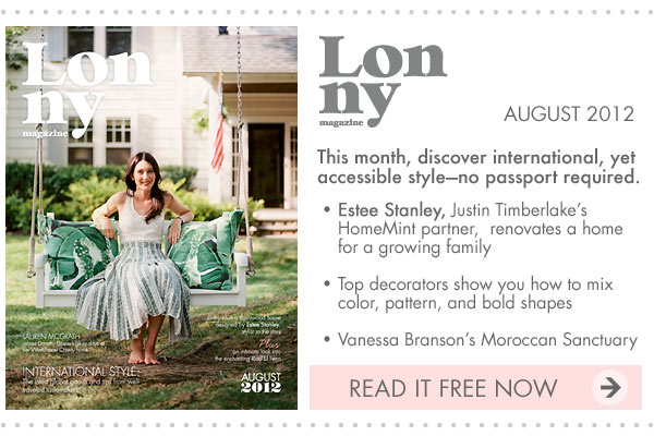 Lonny magazine August 2012